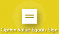 Option Value Equals Sign